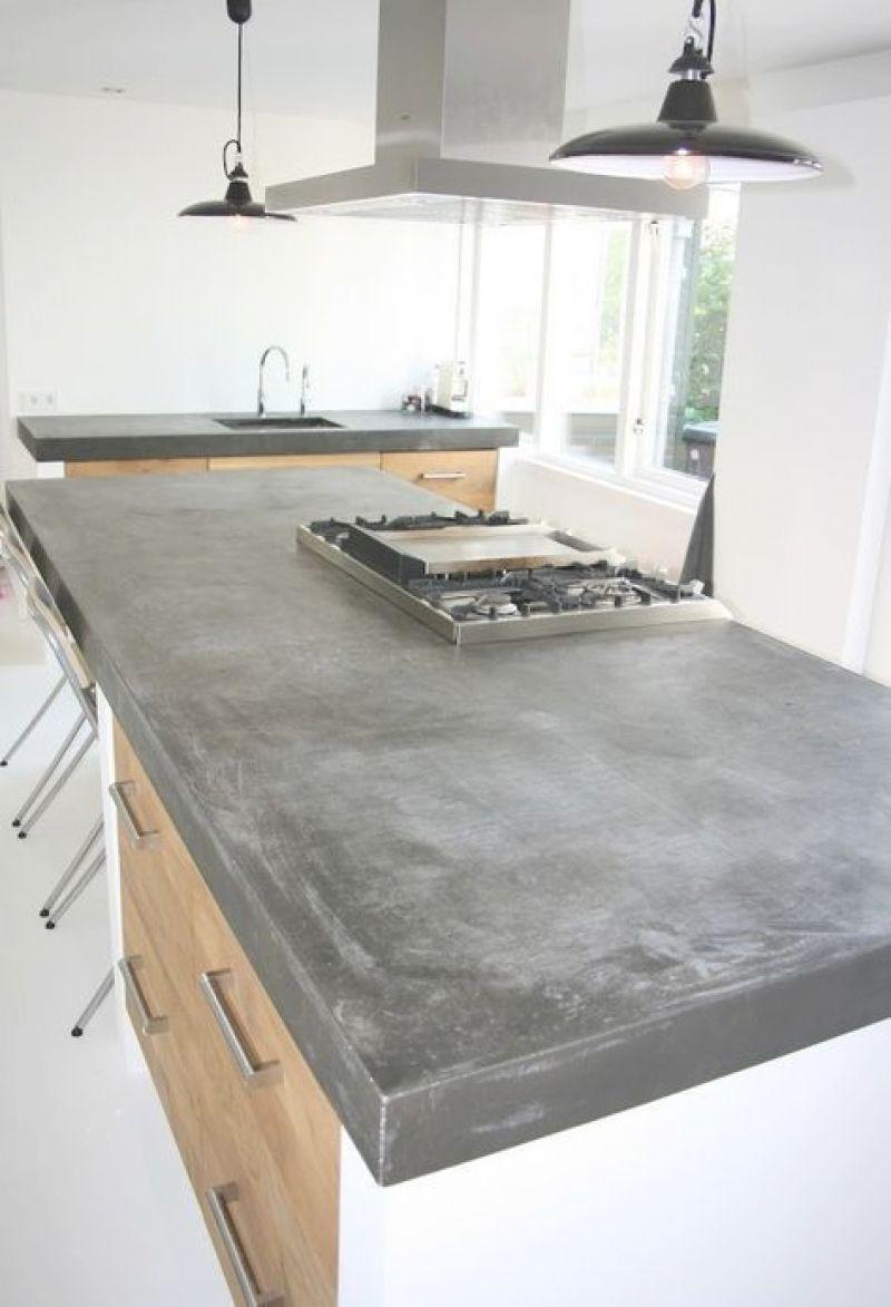 arbeitsplatte beton kueche ideen | küche beton