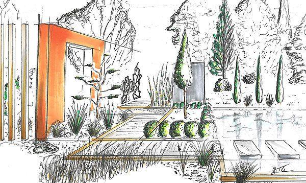 dessin perspective croquis paysage alexandre trubert a t elier 16 design. Black Bedroom Furniture Sets. Home Design Ideas