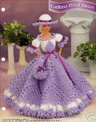 Crochet Barbie Fashion Doll Pattern Cotillion Hoop Di Sureshopping