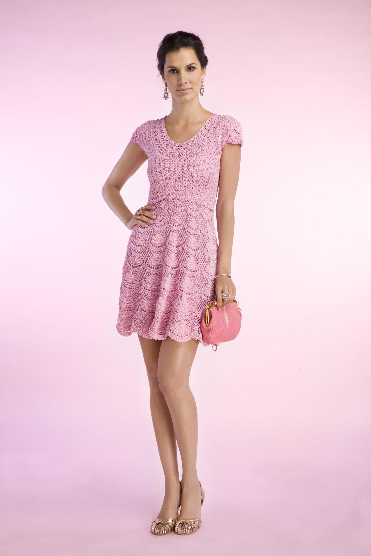 Moda   Ai que mimo   Página 2   Vestidos de crochet   Pinterest ...