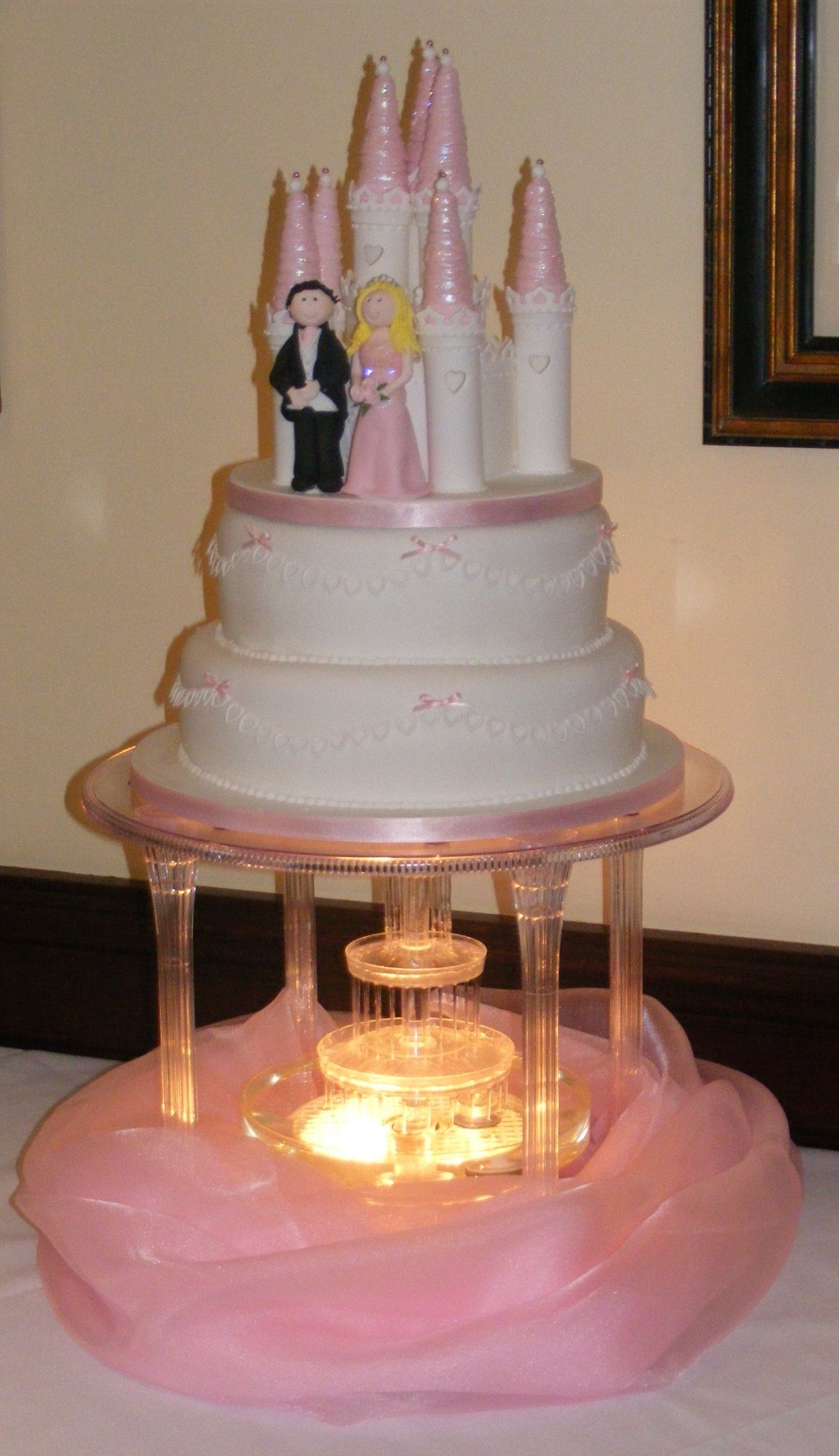 Bella Wedding Cake With Castle Topper