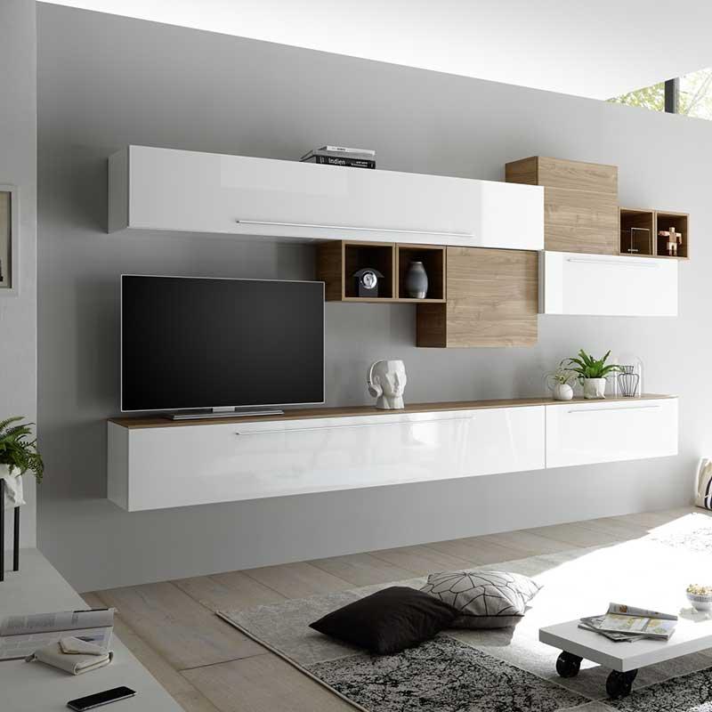 Composition Murale Tv Meuble Tv Suspendu Pour Salon Muraem Meuble Suspendu Salon Decoration Meuble Tv Deco Meuble Tv