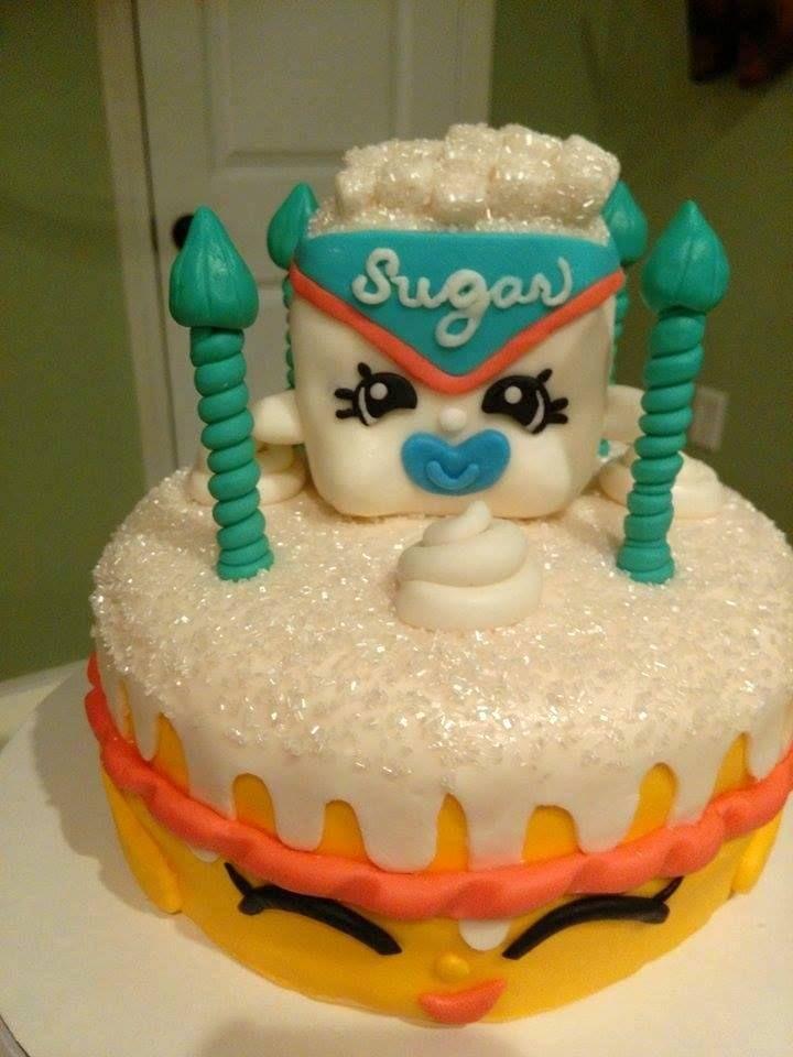 Sugar Lump Bday Cake From Paige! #SPKBirthday #Shopkins #ShopkinsWorld # SugarLump