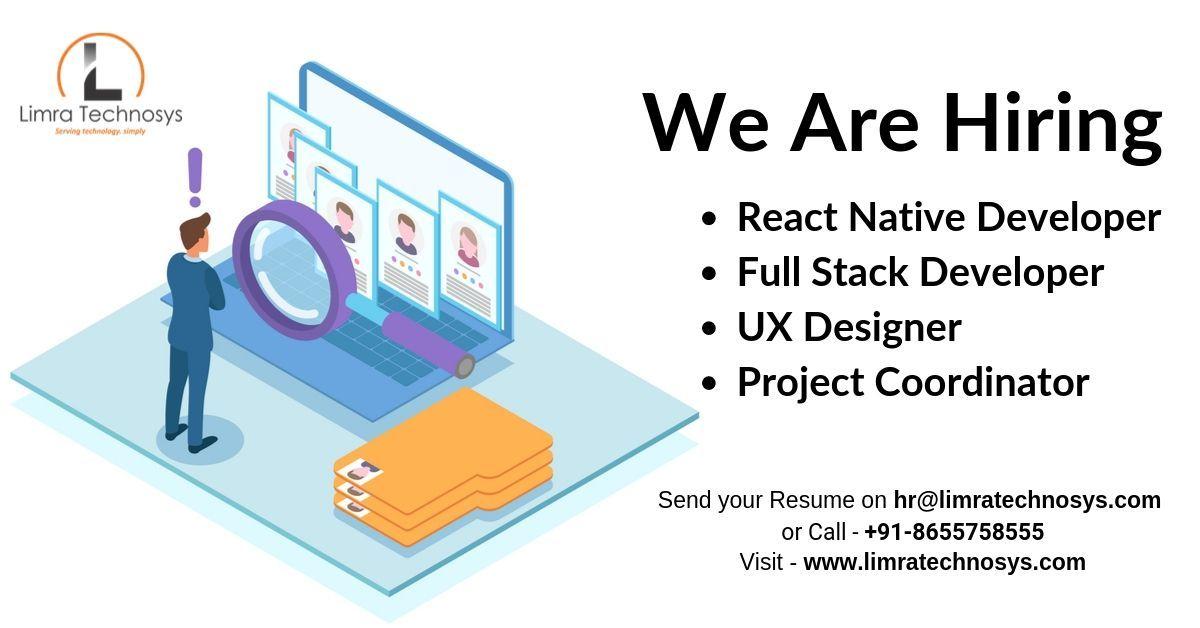 Limra technosys pvt ltd is hiring react native developer