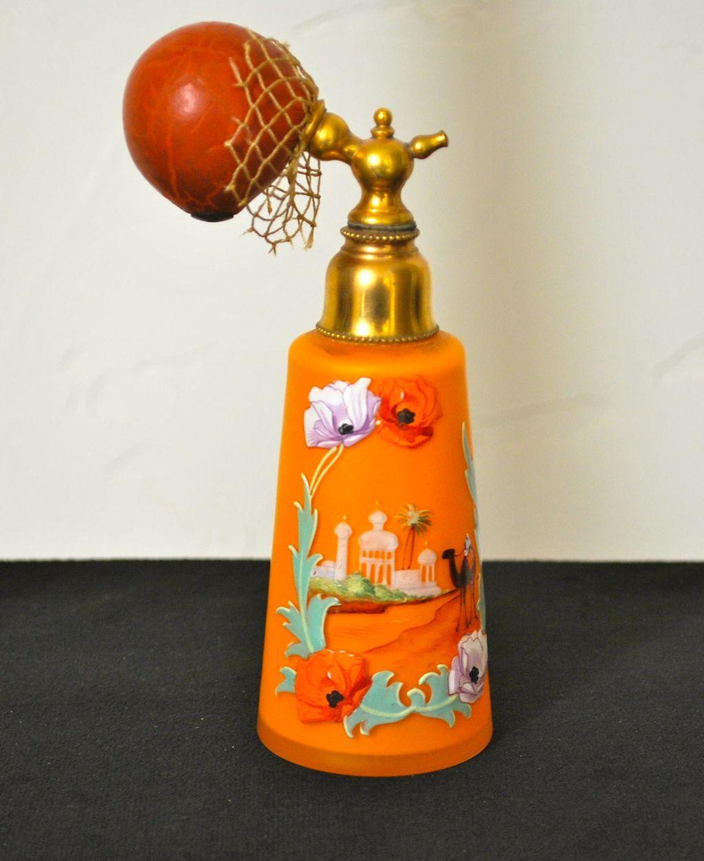 Vintage Exotic Boudoir Perfume Atomizer Bottle from everydaysagift on Ruby Lane