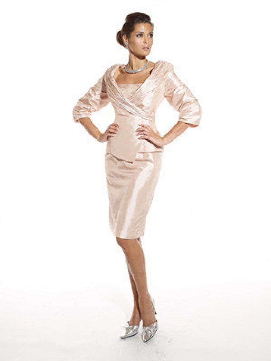 Mothers dresses for a wedding  Sheath Knee Length Short Long Sleeves Mother of the Bride Dresses