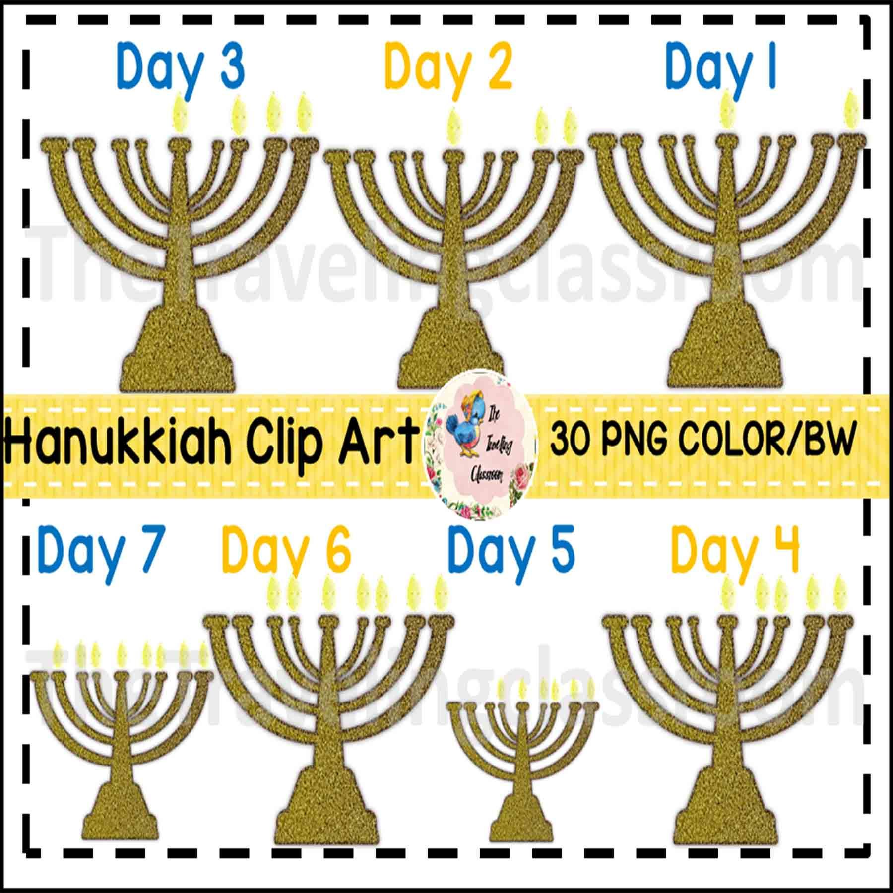 Hanukkiah Menorah Hanukkah Clip Art Commercial Use