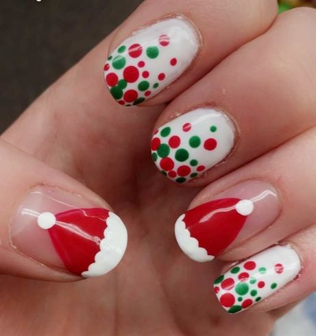 Christmas Santa Hats By Livelaugh1212 From Nail Art Gallery
