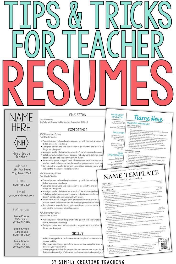 Teacher Resume Tips & Tricks Elementary teacher resume