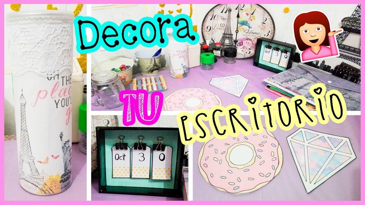 DIY decora y organiza tu escritorio TUMBLR
