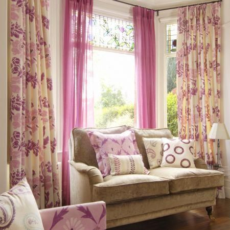 Fancy Window Treatment Ideas For Bay Windows In Living Room Frieze ...