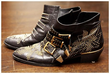 'The most beautiful boots in the world'    Chloe Pre-Fall 2008 studded ankle boots.
