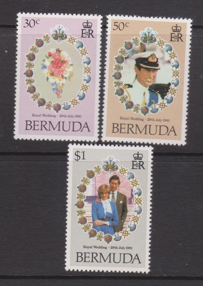 1981 Royal Wedding Charles & Diana MNH Stamps Stamp Set