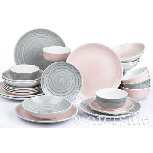 Norden Home Beatriz 24 Piece Dinnerware Set Service For 6