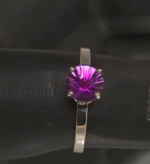 Pinwheel Custom Cut Amethyst Ring by janeysjewels on Etsy, $150.00