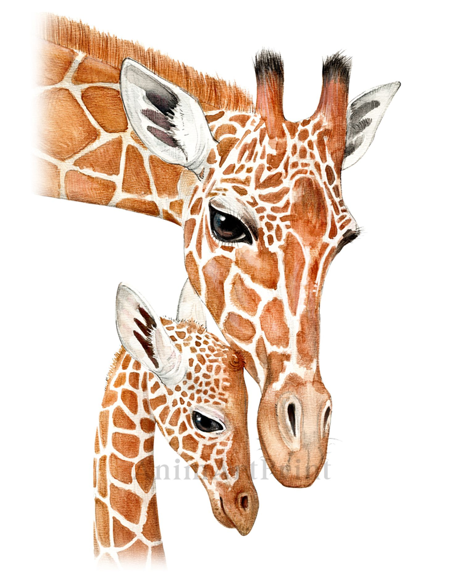 Giraffe Print Gift Mommy And