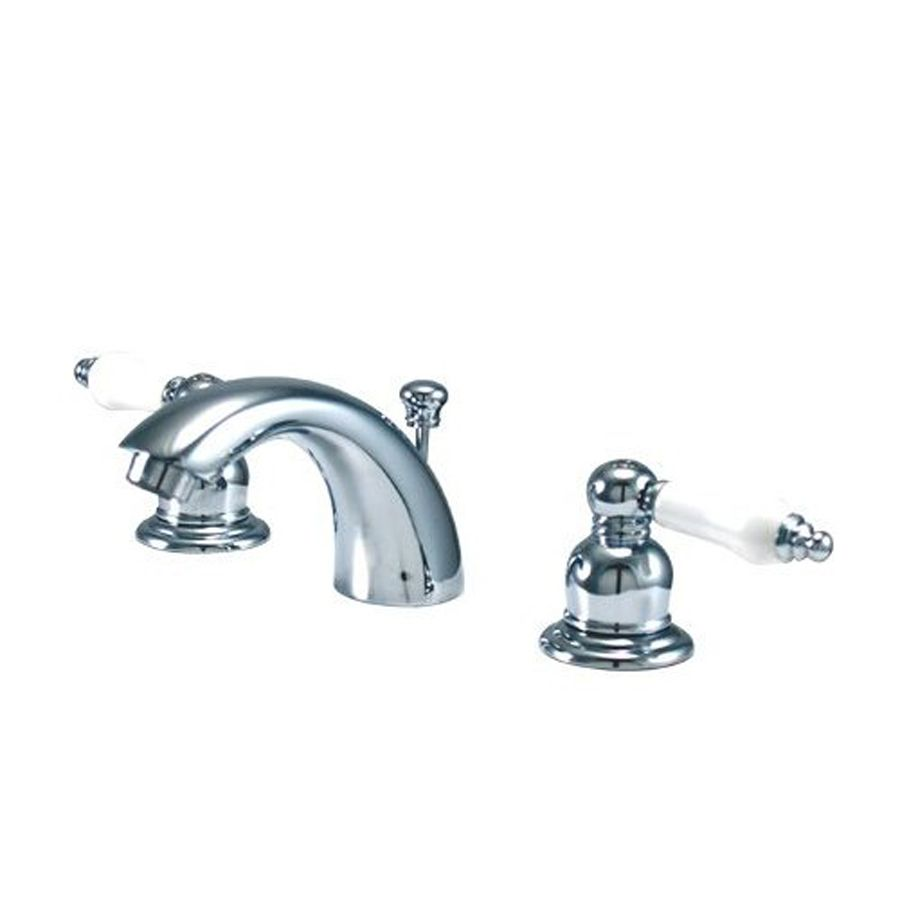 Elements Of Design Chrome 2 Handle 4 In Mini Widespread Bathroom Faucet Drain