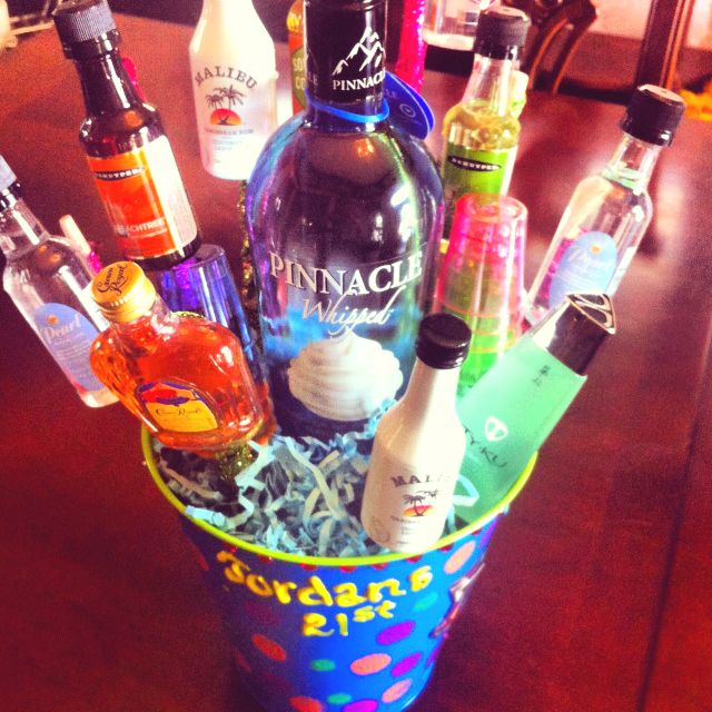 The 21st Birthday Alcohol Bouquet I Made My Best Friend