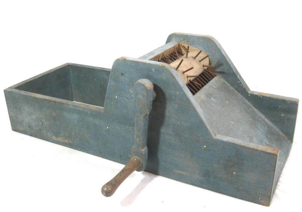 Antique 19thc Cotton Gin Seed Separator Aafa Spinning Wheel Folk Art