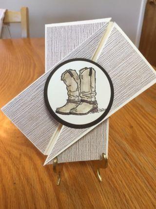 Diagonal Gatefold Card; Country Livin' Stamp Set; Stampin' Up; Handmade Cards