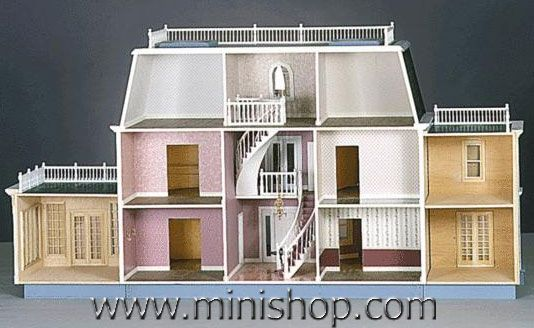 Foxhall Manor Estate Dollhouse Kit Milled Plywood 1200