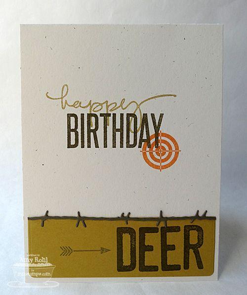 For The Birthday Buck Cards Arrows Archery Pinterest