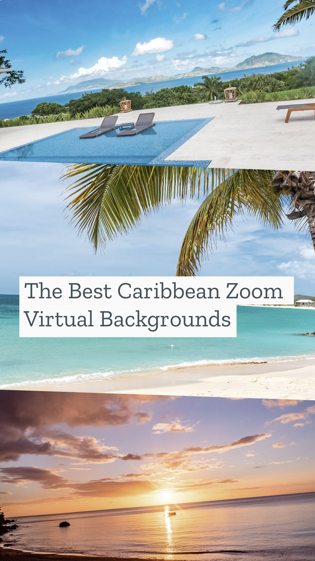 Caribbean Zoom Virtual Backgrounds Make Boring Meetings Better In 2020 Cancun Mexico Travel Caribbean Beach Background