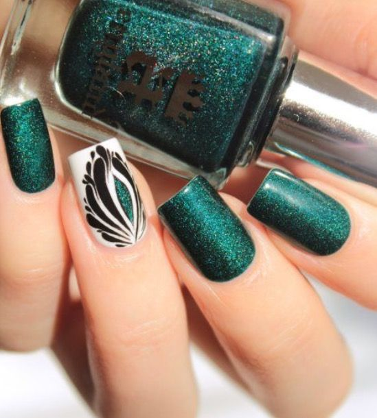 Explore Dark Green Nail Polish, Dark Green Nails and more! - Pin By Stephanie Payne On Kitty Claws & Bunny Paws Pinterest