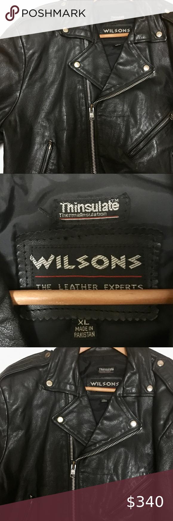 Men S Black Leather Wilson S Harley Davidson Xl Black Leather Wilsons Leather Jacket Leather [ 1740 x 580 Pixel ]
