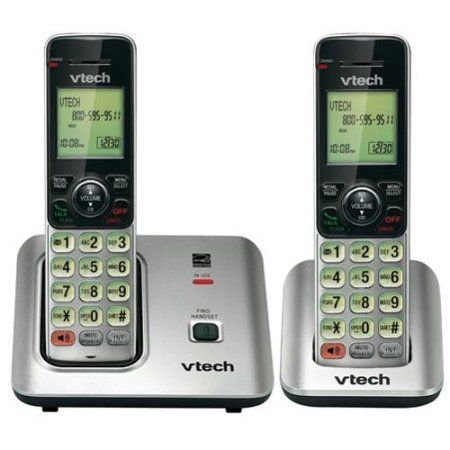 Vtech Two Handset Cordless Phone With Caller Id Call Waiting Walmart Com Cordless Phone Cordless Telephone Phone Speaker