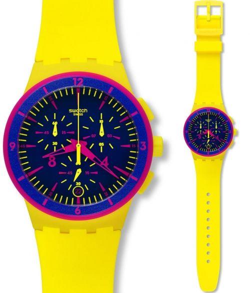 reloj swatch glow loom susj reloj crongrafo para todos los gneros de color amarillo y