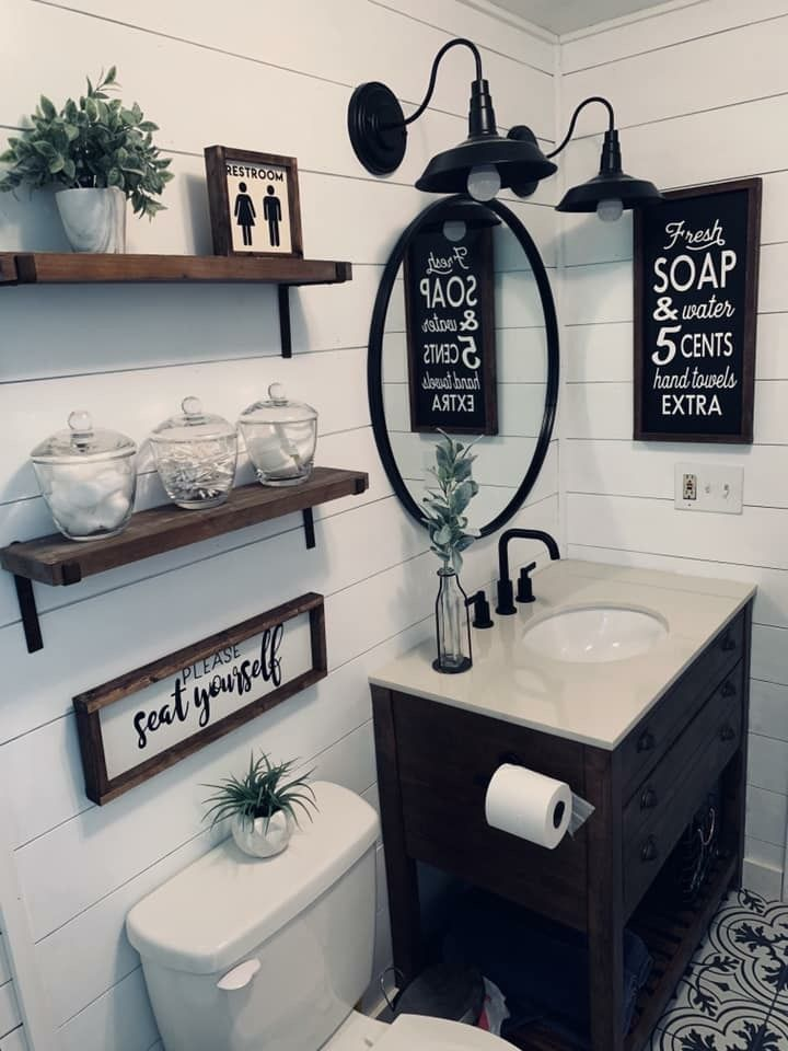 Pin By Si A Tus Sueños On Spare, Rustic Bathroom Wall Decor Ideas