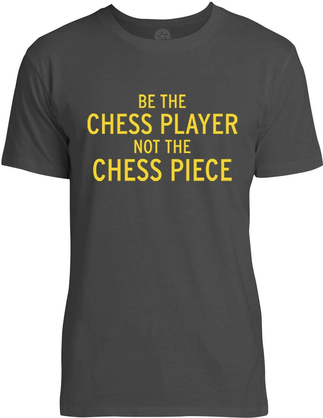 Be the Chess Player (Yellow) Mens Fine Jersey T-Shirt