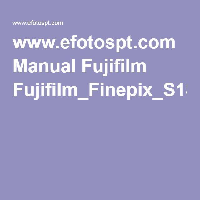 www.efotospt.com Manual Fujifilm Fujifilm_Finepix_S1800_Manual_Portugues.pdf