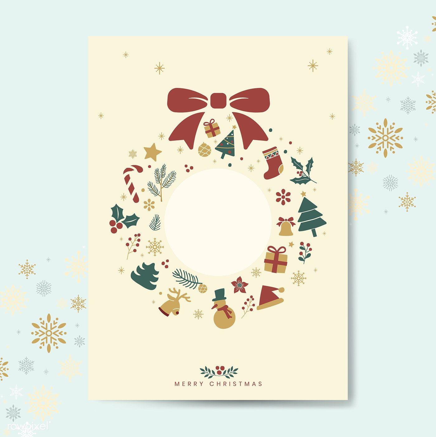 Christmas Greeting Card Mockup Vector Free Image By Rawpixel Com Christmas Greeting Card Template Free Christmas Greeting Cards Christmas Greetings