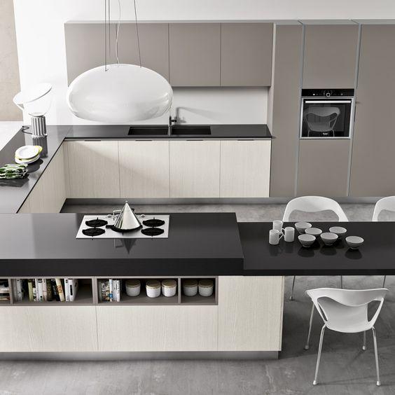 cucina moderna con penisola angolo. nel nostro negozio a padova