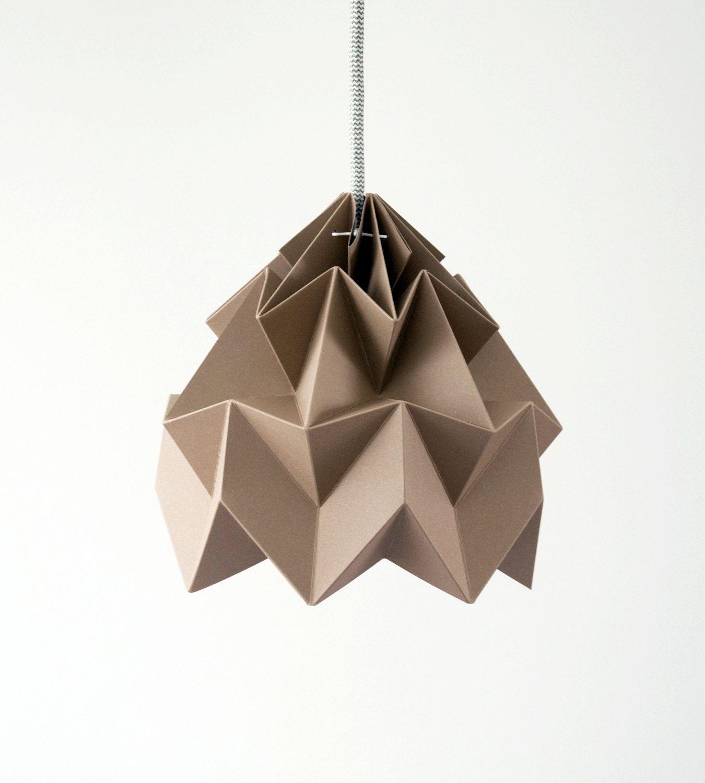 Origami Light Moth Brown Origami Lights Origami Lamp Origami