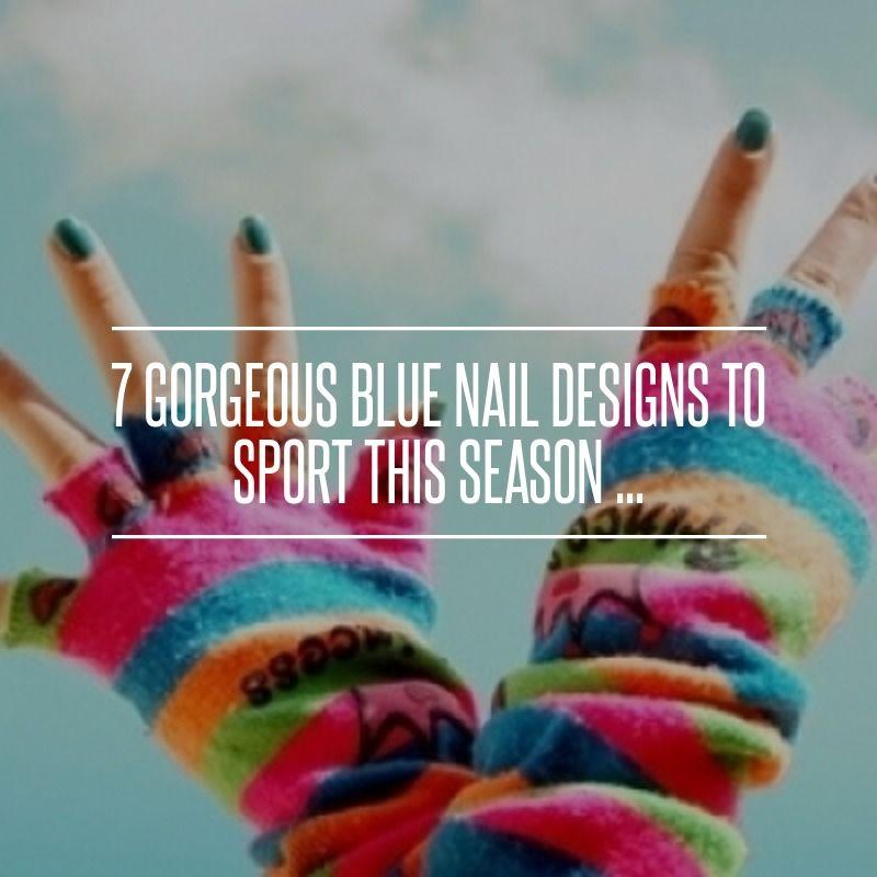 #Funky Blue Zipper Nail Art | #Breaty #Art