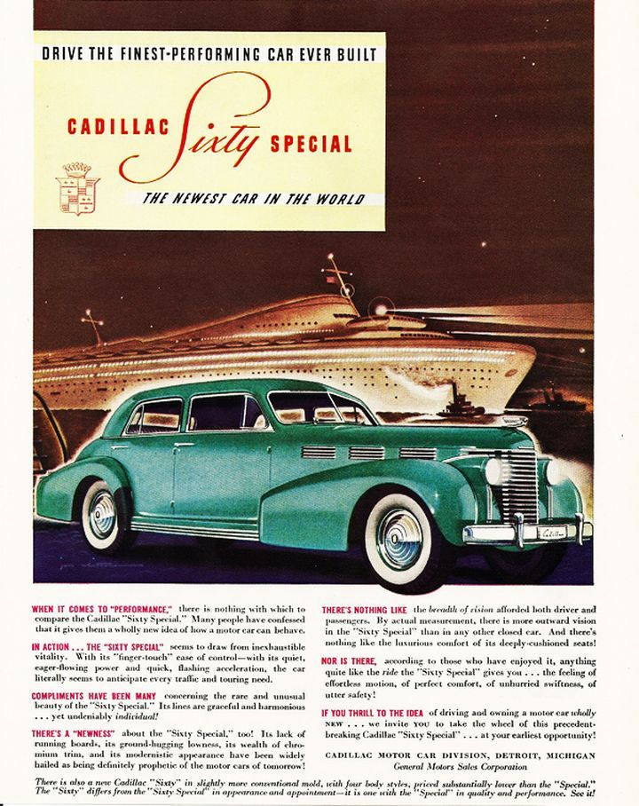 1938 Lasalle old car ads home old car brochures – Old Car Brochure