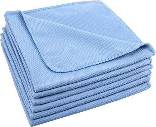 Pro Chef Microfiber Cloth Towel Cleaning Car Windows Bathroom Mirror Shower Glasses Auto 16X16 6Pk, 2015 Amazon Top Rated All-Purpose Cleaners #Home