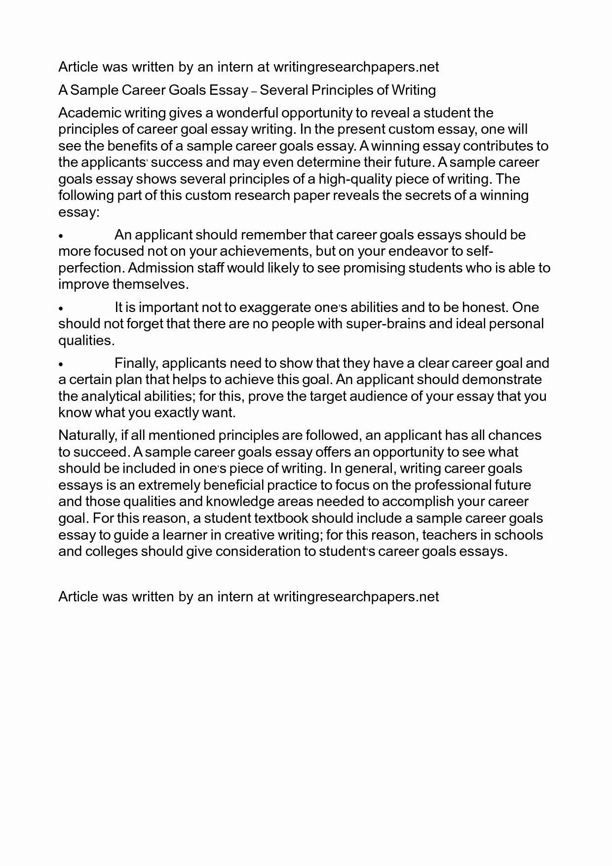 Statement Of Academic Goal Example Best Career Ay Nursing Mba Long Term Scholarship Essay Sample