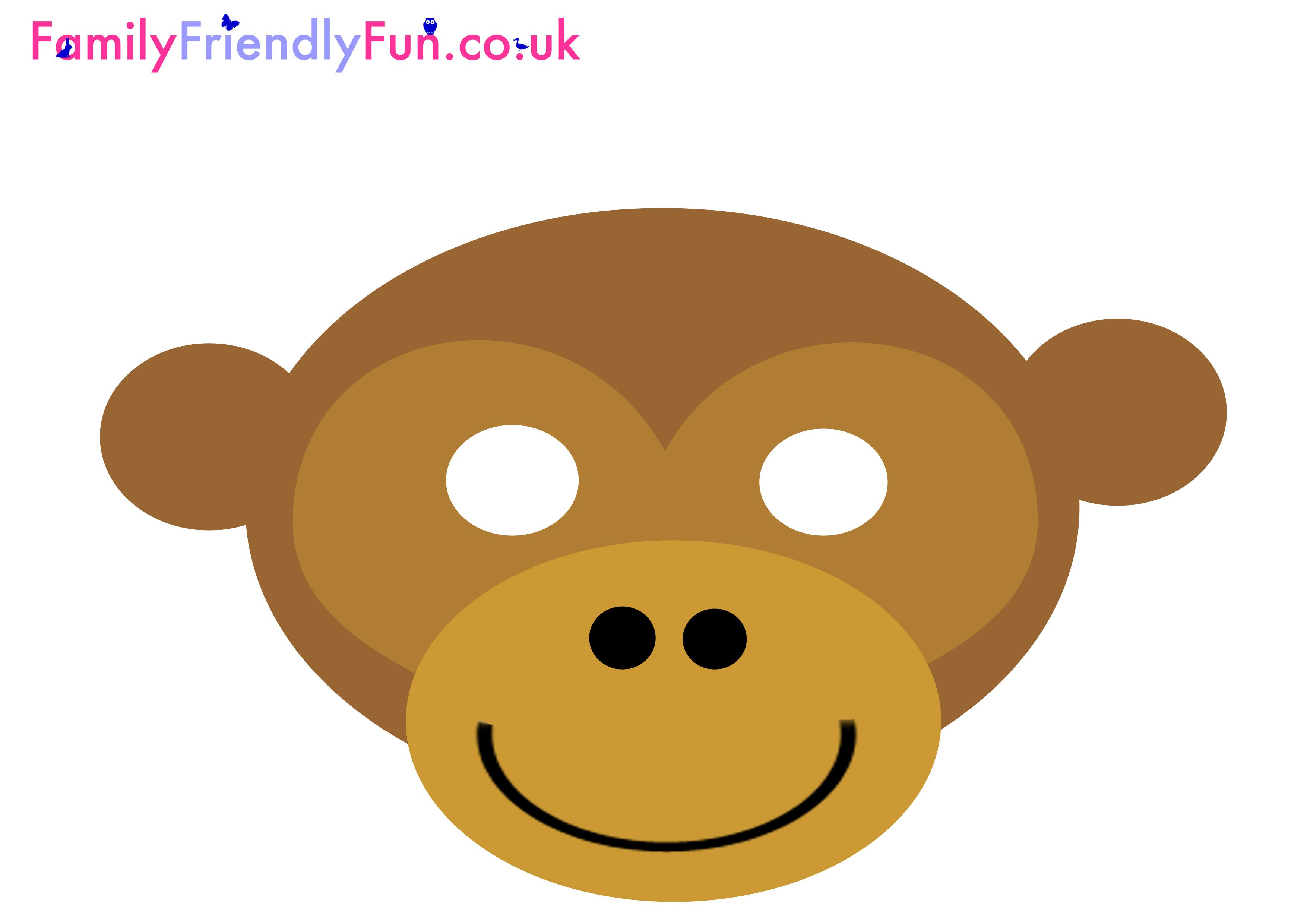 Monkey Mask For Kids Chinese New Year 3 508 2 480 Pixels