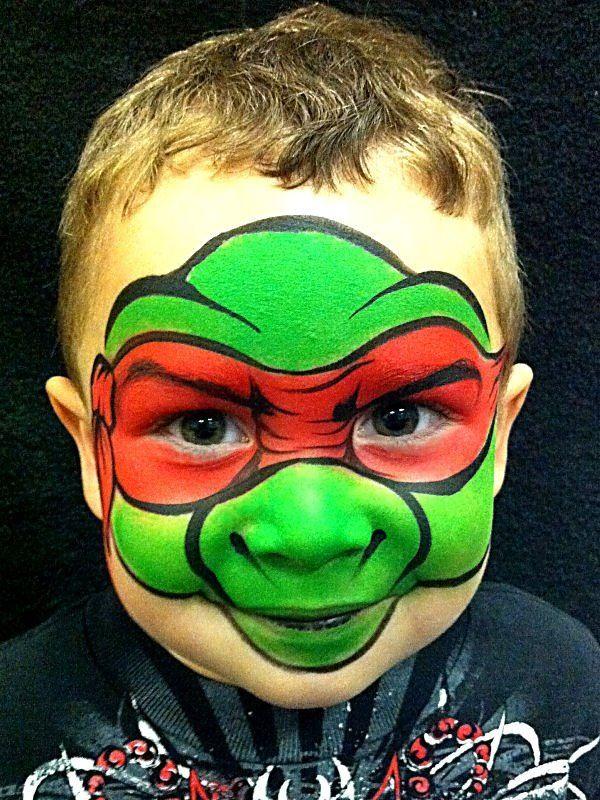 AmaDazzle Arts (Christina Kerr Davidson)    Ninja Turtle   Face/Body Painting Inspiration ...
