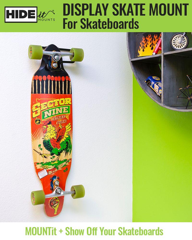 Hideit dskate vertical display skateboard mount in 2020