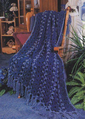 Crochet Pattern Midnight Wrapsody Afghan Instructions Ebay