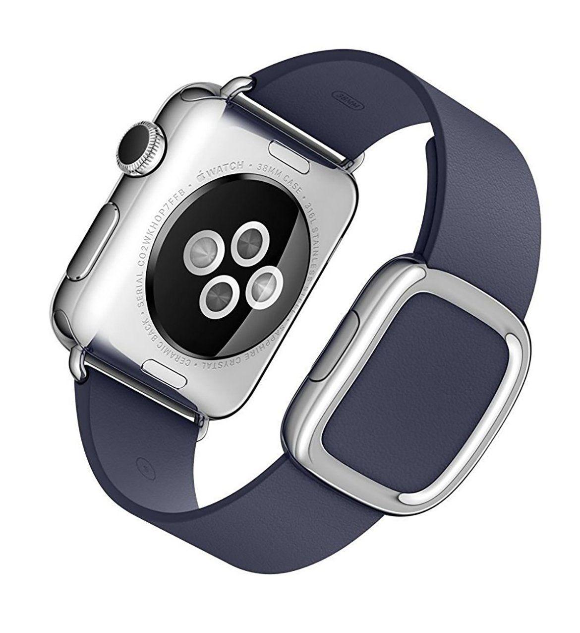 Apple 38 MM Smart Watch Steel/Midnight Blue Modern Buckle