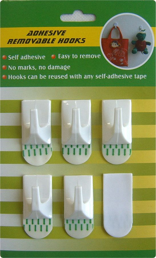 Adhesive Hanging Hooks Adhesive Hanging Hooks with strong adhesive tape to  install wall surface . The hook is removable .When remove from wall  surface, ...