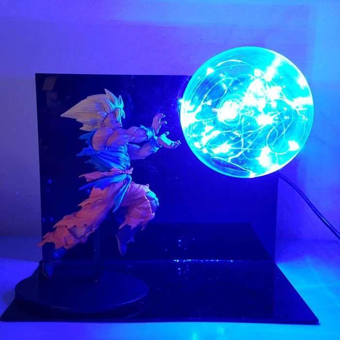 Bruised Super Saiyan Son Goku Kamehameha Wave Blue Flash Ball Diy 3d Led Light Lamp In 2020 Anime Dragon Ball Super Anime Dragon Ball Dragon Ball