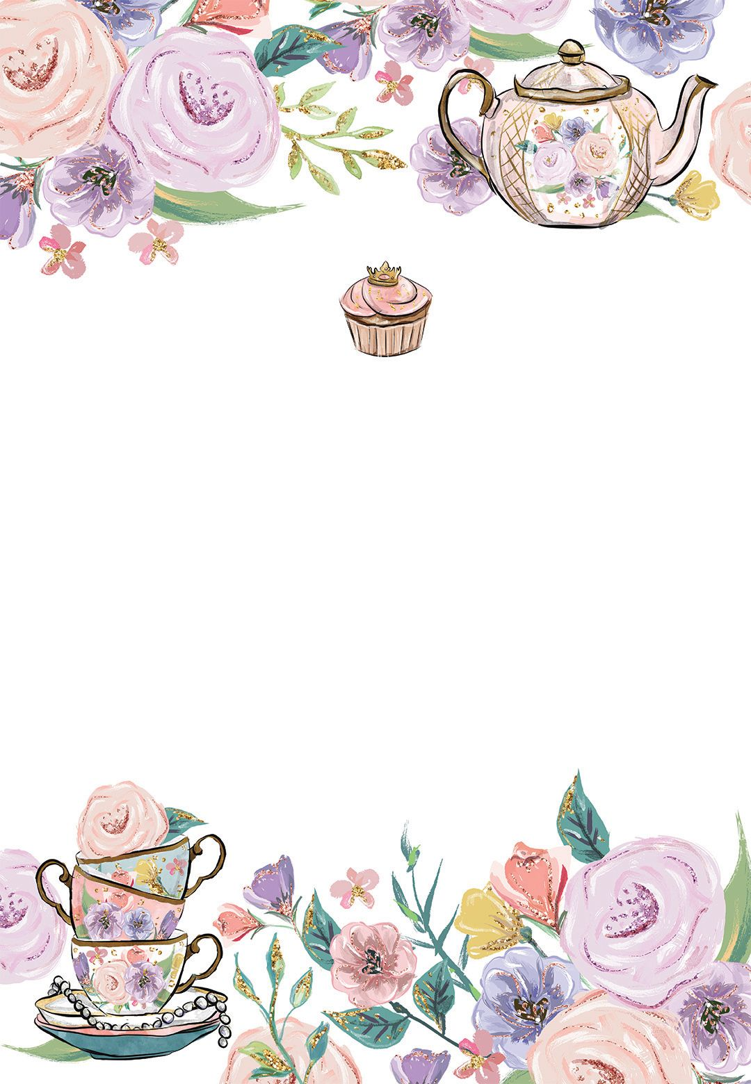Princess Tea Party Birthday Invitation Template Free Greetings Island Tea Party Invitations Princess Tea Party Birthday Tea Party Birthday