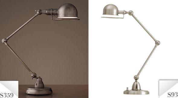 Knockout Knockoff: Restoration Hardware Industrial Task Lamp